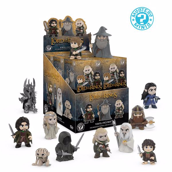 Photo du produit PACK DE 12 FIGURINES MYSTERY MINI LORD OF THE RINGS + PRESENTOIR