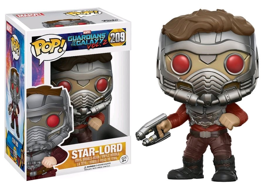 Photo du produit LES GARDIENS DE LA GALAXIE 2 FUNKO POP! STAR-LORD (MASKED)