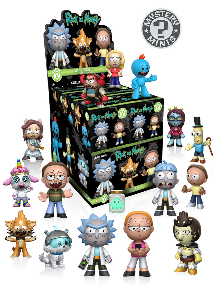 Photo du produit MYSTERY MINI RICK ET MORTY 12 FIGURINES + PRESENTOIR