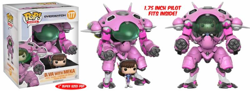Photo du produit FUNKO POP OVERWATCH D.VA WITH MEKA OVERSIZED 15 CM