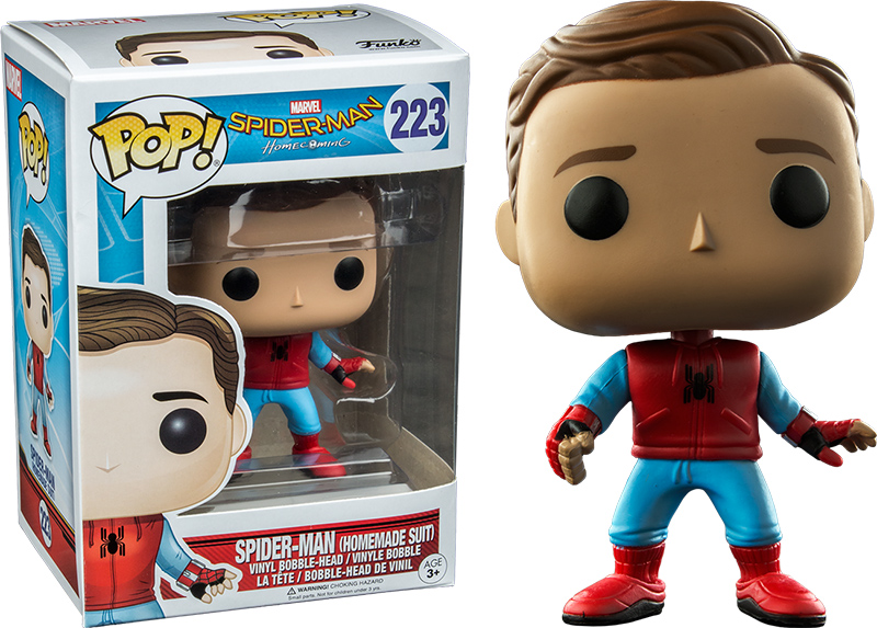 Photo du produit FUNKO POP SPIDER-MAN HOMECOMING HOMEMADE SUIT UNMASKED LIMITED EDITION