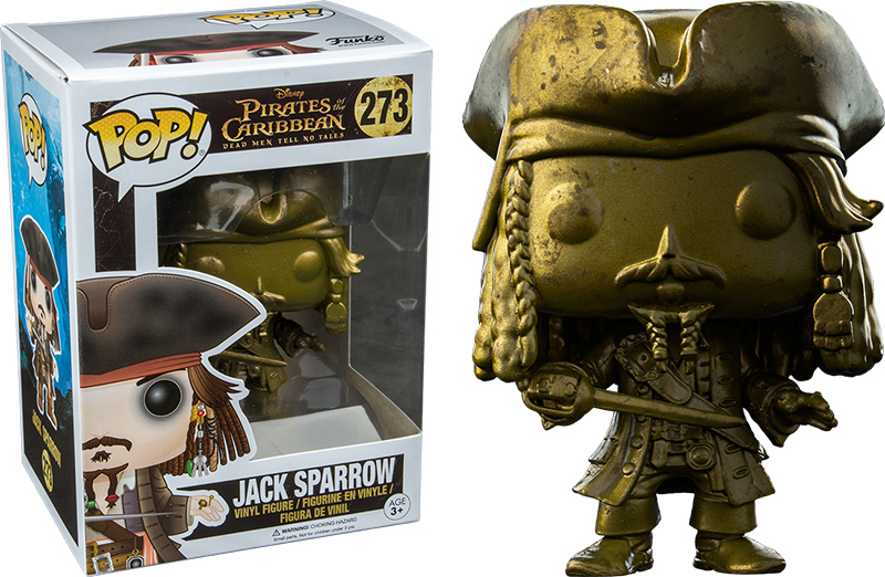 Photo du produit FUNKO POP PIRATES JACK SPARROW GOLD LIMITED EDITION