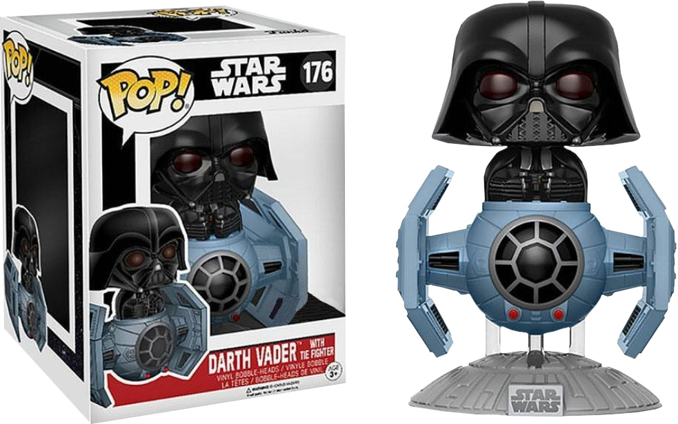 Photo du produit STAR WARS FUNKO POP DARTH VADER WITH TIE FIGHTER DELUXE LIMITED EDITION