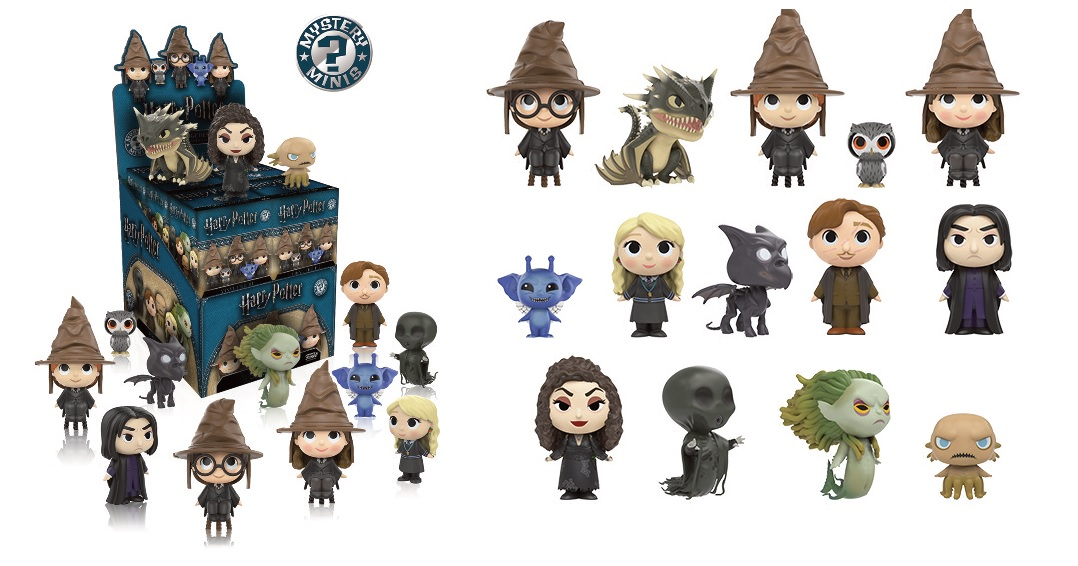 Photo du produit MYSTERY MINI SERIES 2 HARRY POTTER 12 FIGURINES + PRESENTOIR