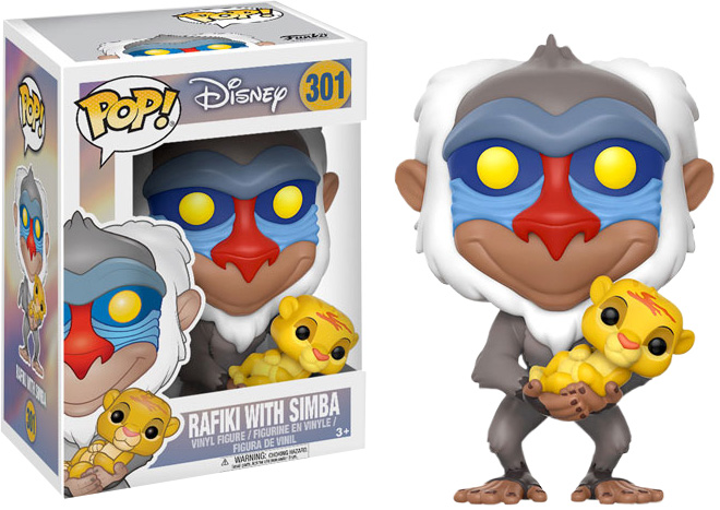 Photo du produit FUNKO POP LE ROI LION RAFIKI & SIMBA