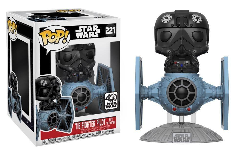 Photo du produit FUNKO POP STAR WARS TIE FIGHTER WITH TIE PILOT 15 CM
