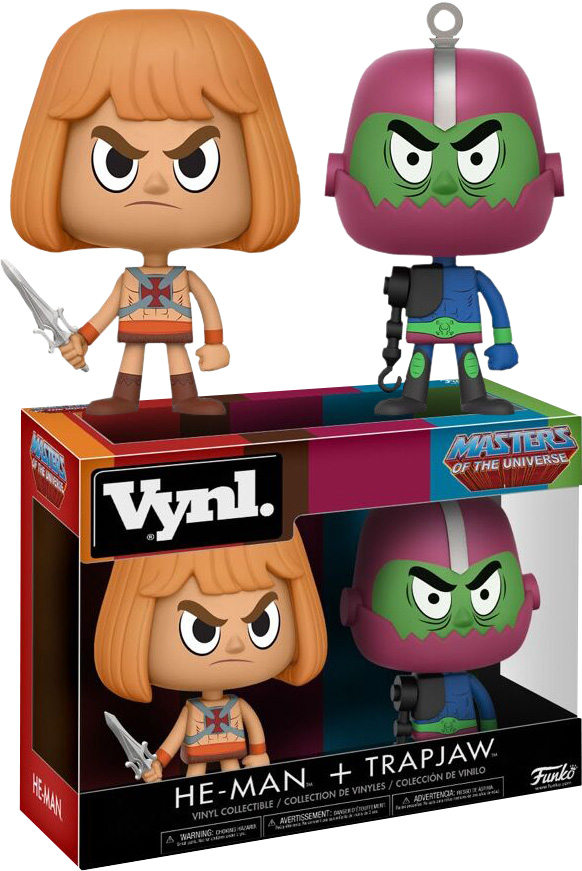 Photo du produit MASTERS OF THE UNIVERSE - HE-MAN & TRAPJAW VYNL. FIGURE 2-PACK