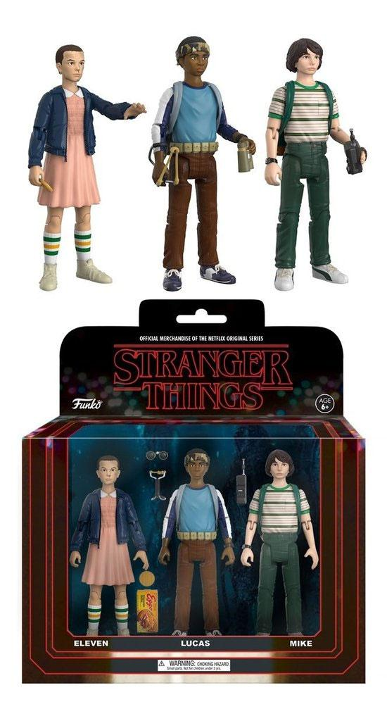 Photo du produit STRANGER THINGS REACTION PACK 3 FIGURINES MIKE, ELEVEN & LUKAS 14 CM