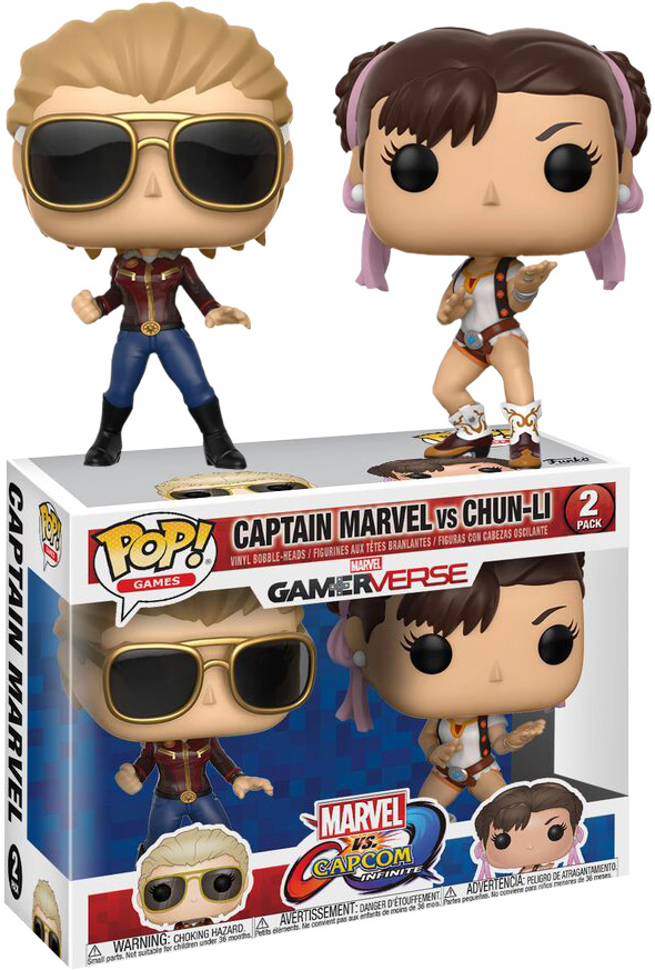 Photo du produit PACK 2 FUNKO POP MARVEL VS CAPCOM CAPTAIN MARVEL VS CHUN-LI