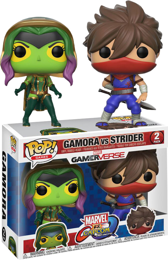 Photo du produit PACK 2 FUNKO POP MARVEL VS CAPCOM GAMORA VS STRIDER