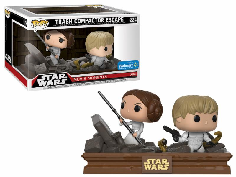 Photo du produit PACK 2 FUNKO POP STAR WARS MOVIE MOMENTS: LUKE & LEIA TRASH COMPACTOR ESCAPE