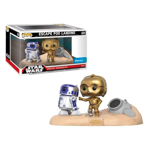 Photo du produit PACK 2 FUNKO POP STAR WARS MOVIE MOMENTS  R2-D2 & C-3PO DESERT