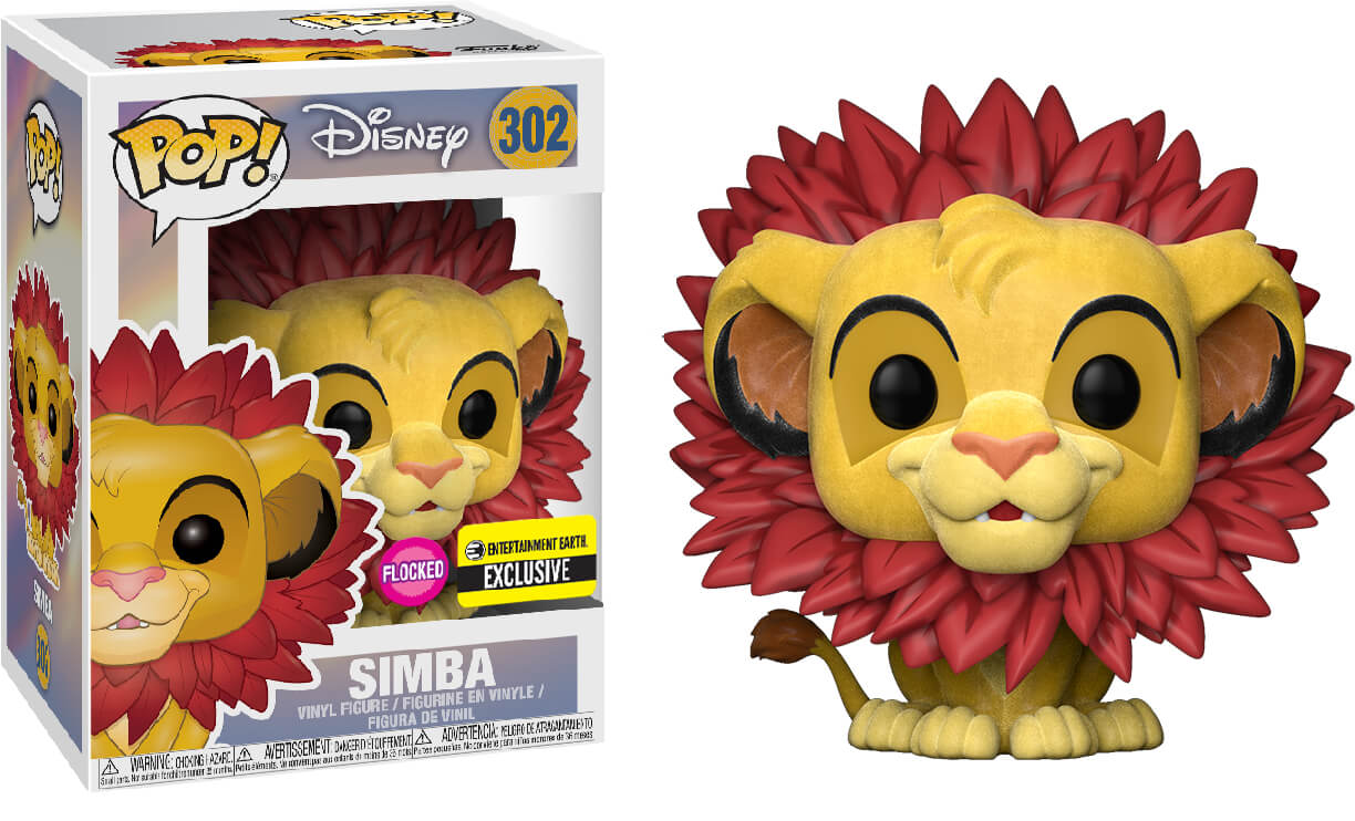 Photo du produit FUNKO POP LE ROI LION SIMBA FLOCKED EXCLUSIVE