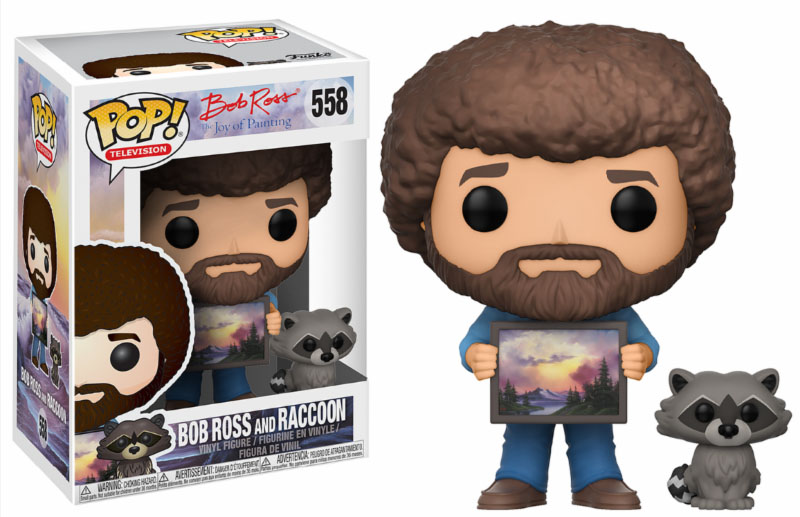 Photo du produit THE JOY OF PAINTING FUNKO POP BOB ROSS WITH RACCOON