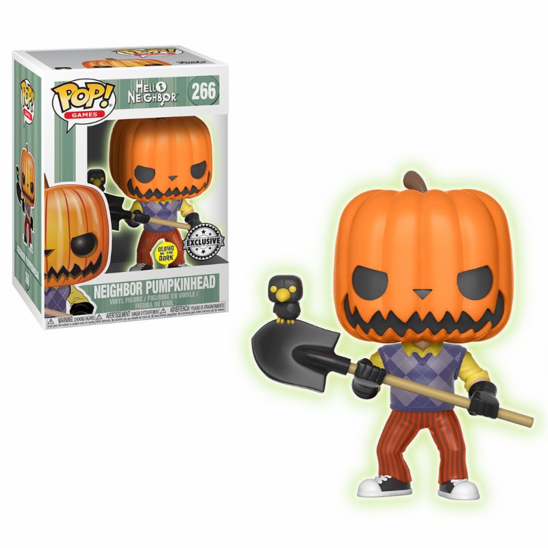 Photo du produit FUNKO POP HELLO NEIGHBOR PUMPKIN HEAD GITD EXCLUSIVE