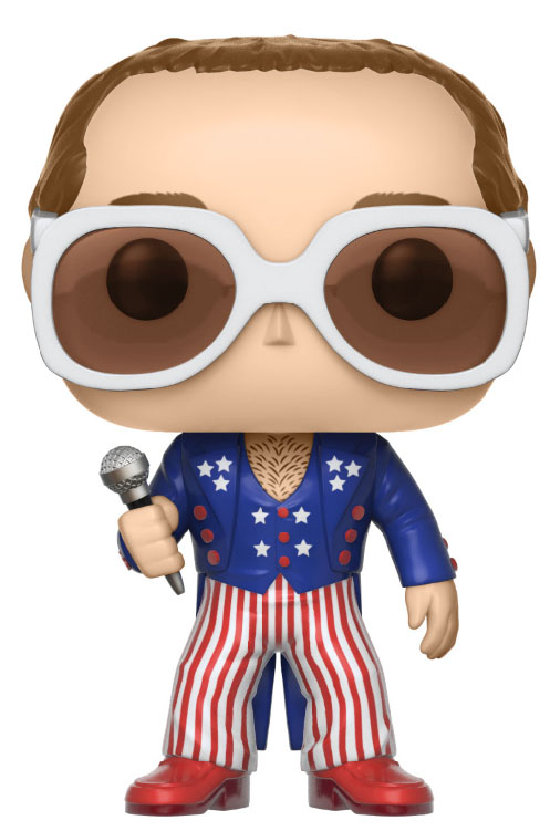 Photo du produit FUNKO POP ELTON JOHN RED, WHITE, BLUE ROCKS SERIES 3