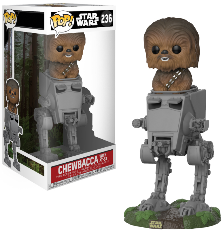 Photo du produit STAR WARS POP! DELUXE CHEWBACCA WITH AT-ST 10 CM