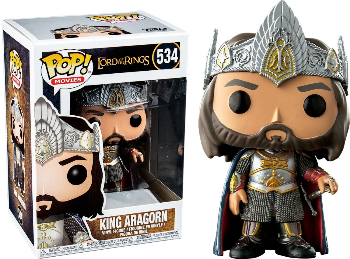 Photo du produit FIGURINE FUNKO POP LORD OF THE RINGS KING ARAGORN EXCLUSIVE