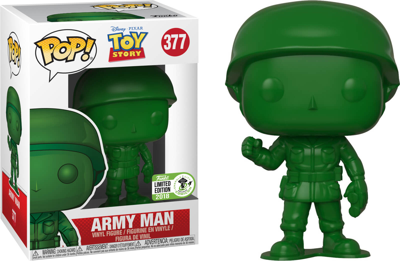 Photo du produit ECCC 2018 FUNKO POP DISNEY TOY STORY ARMY MAN - EMERALD CITY COMIC CON 2018