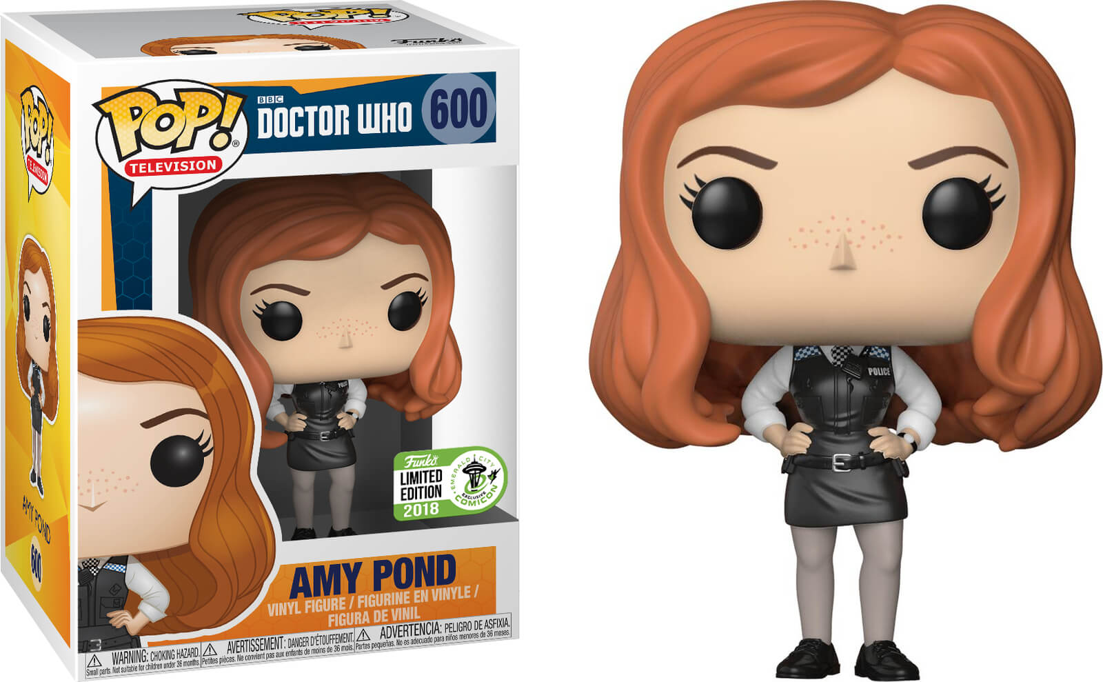 Photo du produit ECCC 2018 FUNKO POP DOCTOR WHO AMY POND POLICE - ECCC (Emballage endommagé)