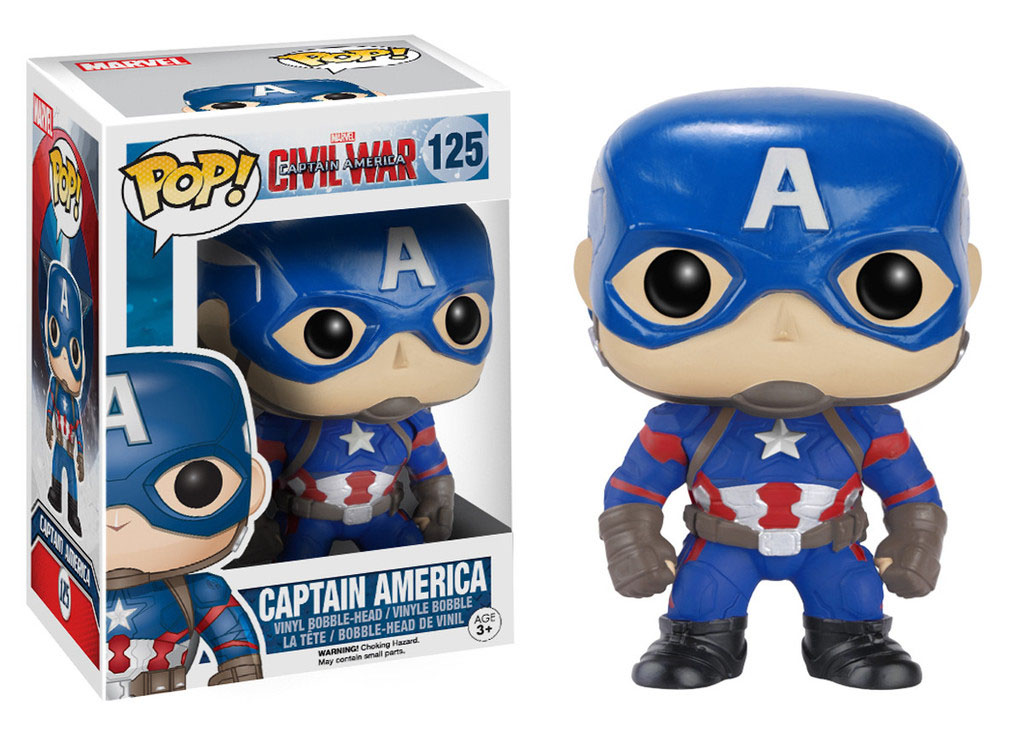 Photo du produit CAPTAIN AMERICA CIVIL WAR FUNKO POP! BOBBLE HEAD CAPTAIN AMERICA