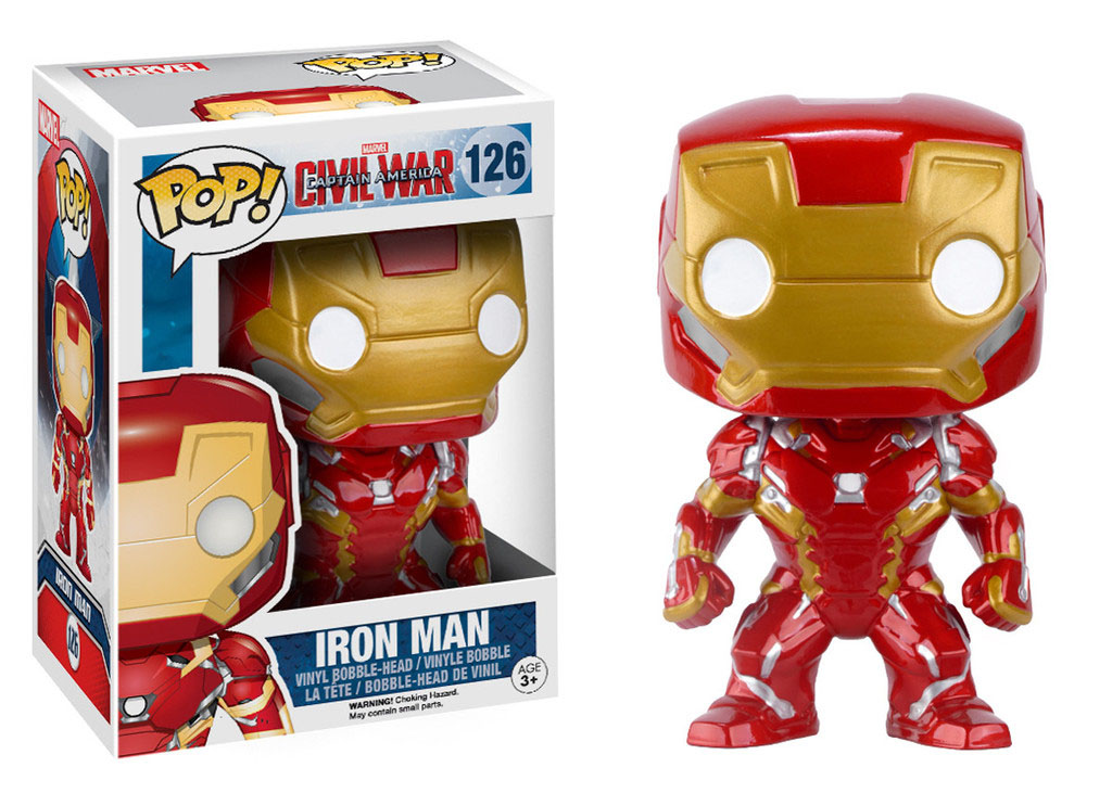 Photo du produit CAPTAIN AMERICA CIVIL WAR FUNKO POP! BOBBLE HEAD IRON MAN