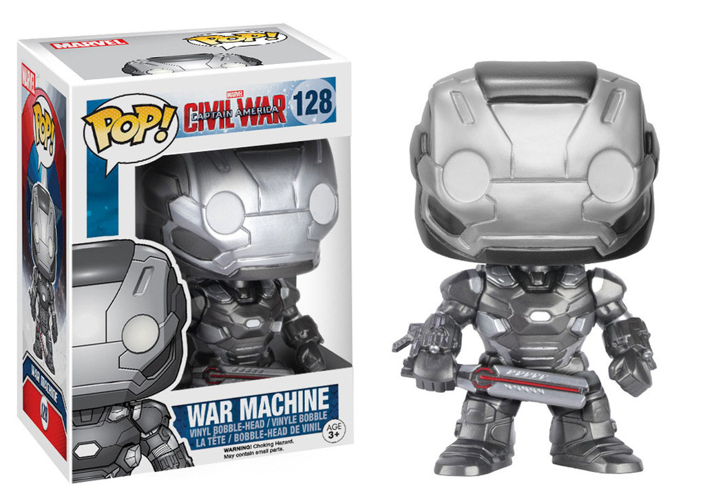 Photo du produit CAPTAIN AMERICA CIVIL WAR FUNKO POP! BOBBLE HEAD WAR MARCHINE