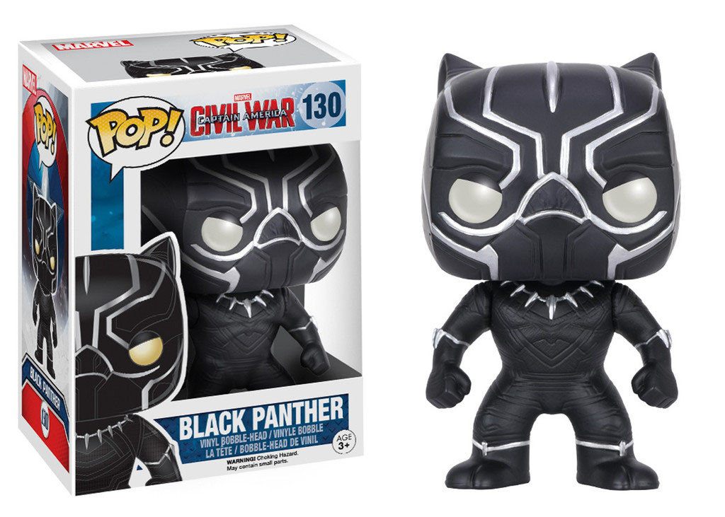 Photo du produit CAPTAIN AMERICA CIVIL WAR FUNKO POP! BOBBLE HEAD BLACK PANTHER