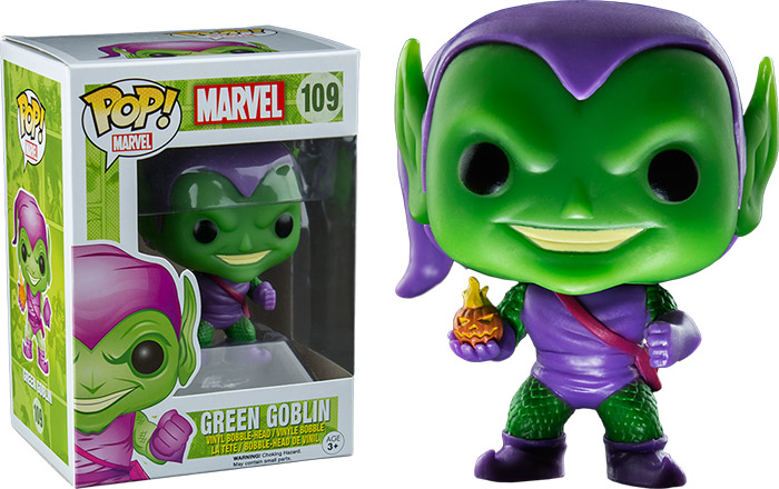 Photo du produit MARVEL COMICS FUNKO POP! BOBBLE HEAD GREEN GOBLIN