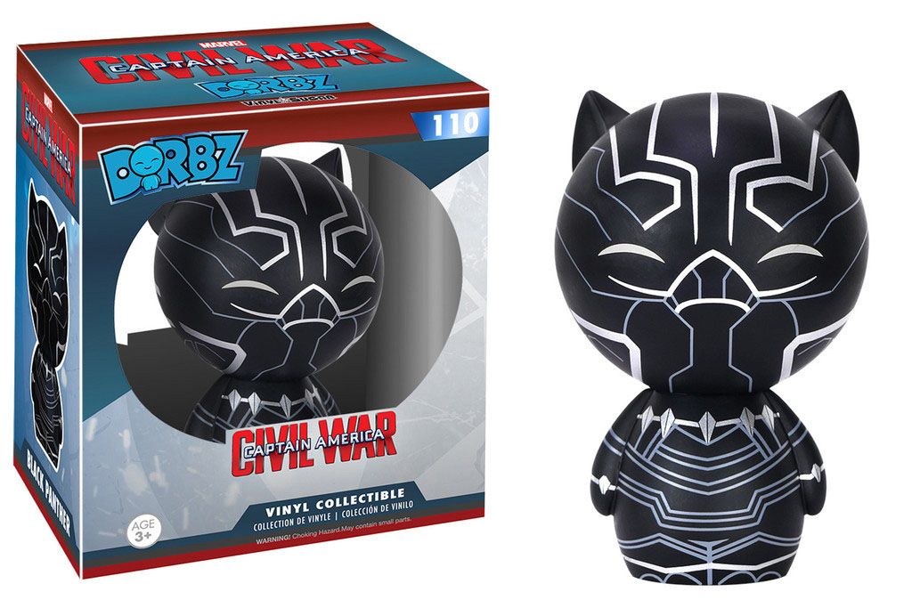 Photo du produit CAPTAIN AMERICA CIVIL WAR FUNKO DORBZ FIGURINE BLACK PANTHER