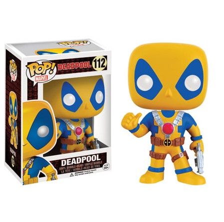 Photo du produit MARVEL COMICS FUNKO POP! BOBBLE HEAD DEADPOOL YELLOW COSTUME