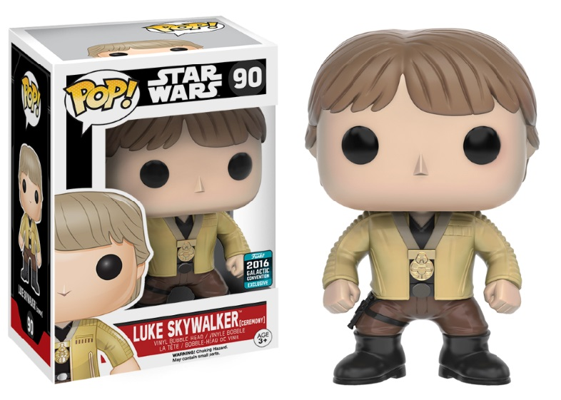 Photo du produit STAR WARS  FUNKO POP BOBBLE HEAD LUKE SKYWALKER (CEREMONY)