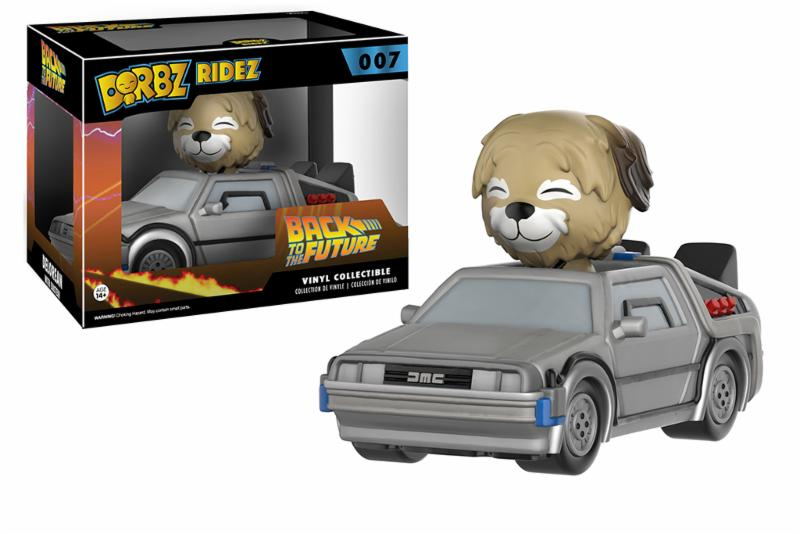 Photo du produit FIGURINE RETOUR VERS LE FUTUR FUNKO DORBZ RIDEZ DELORAN WITH EINSTEIN