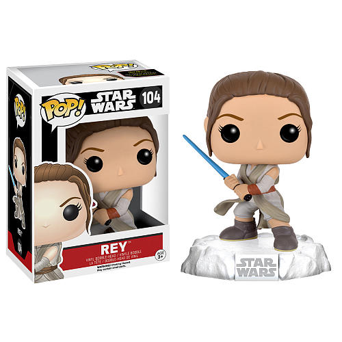 Photo du produit STAR WARS EPISODE VII POP! VINYL BOBBLE HEAD REY (BATTLE POSE)