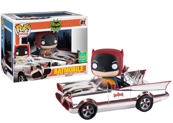 Photo du produit SDCC 2016 FUNKO POP 1966 CHROME BATMOBILE RIDE EXCLUSIVE