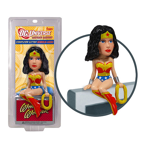 Photo du produit DC HEROES VINYL BBH WONDER WOMAN COMPUTER SITTER 7CM
