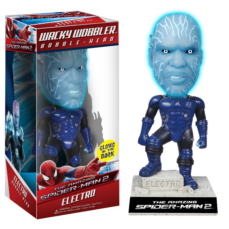 Photo du produit FUNKO AMAZING SPIDERMAN 2 ELECTRO BOBBLE HEAD 18 CM