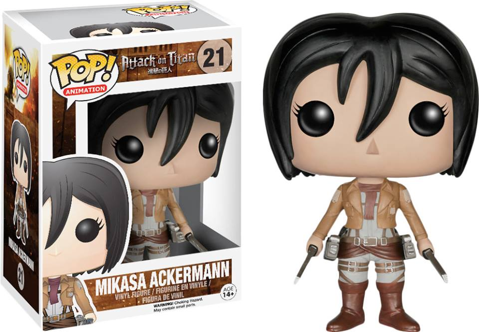 Photo du produit ATTAQUE DES TITANS POP MIKASA ACKERMAN 9CM