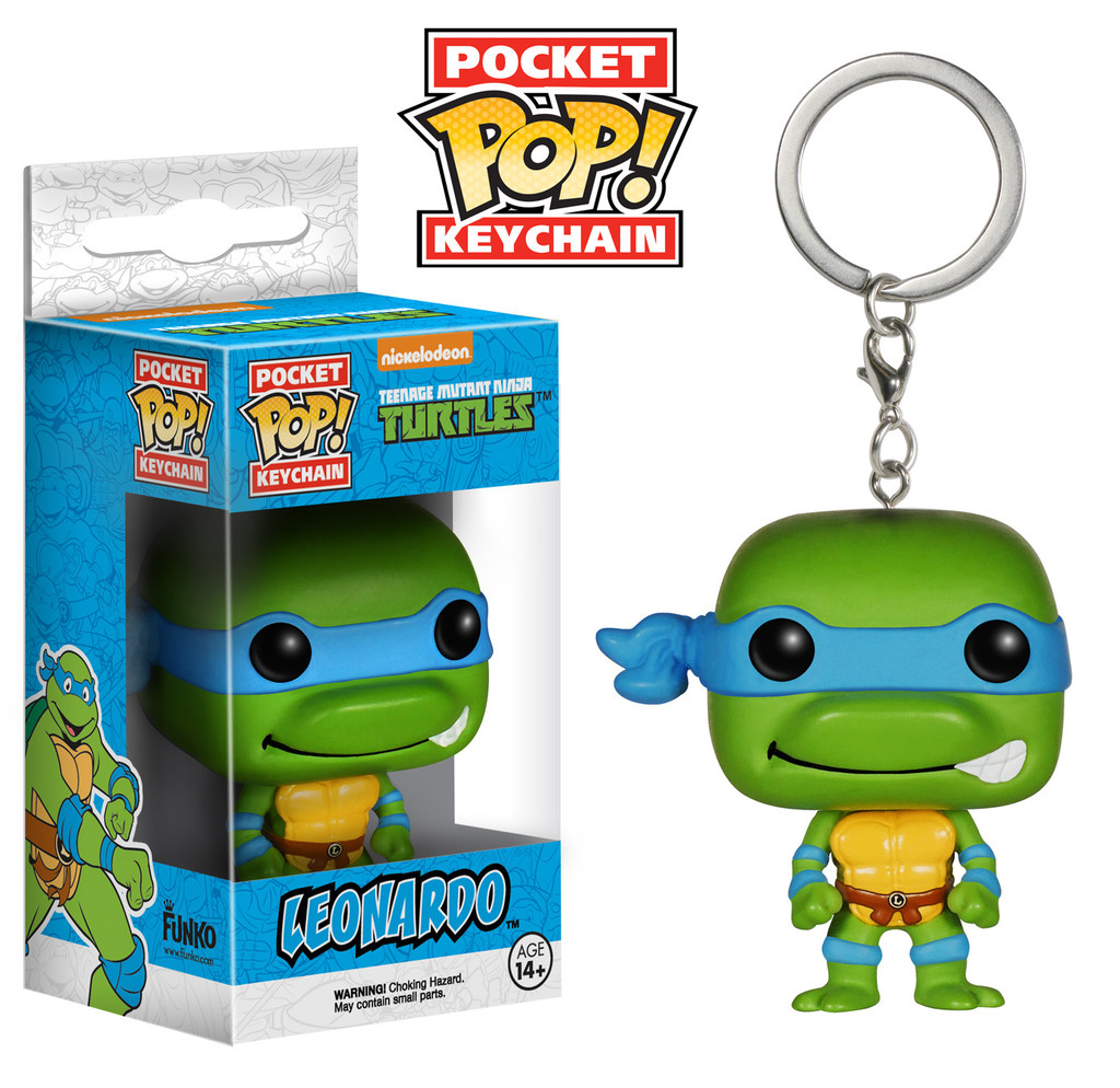 Photo du produit PORTE CLE TMNT TORTUES NINJA LEONARDO POP 4 CM
