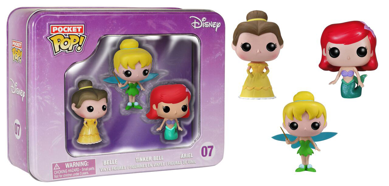 Photo du produit DISNEY POP POCKET POP TIN 3- PACK CLOCHETTE / ARIEL / BELLE