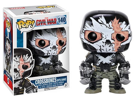 Photo du produit Captain America Civil War Funko Pop Crossbones Battle Damaged Edition Limitée