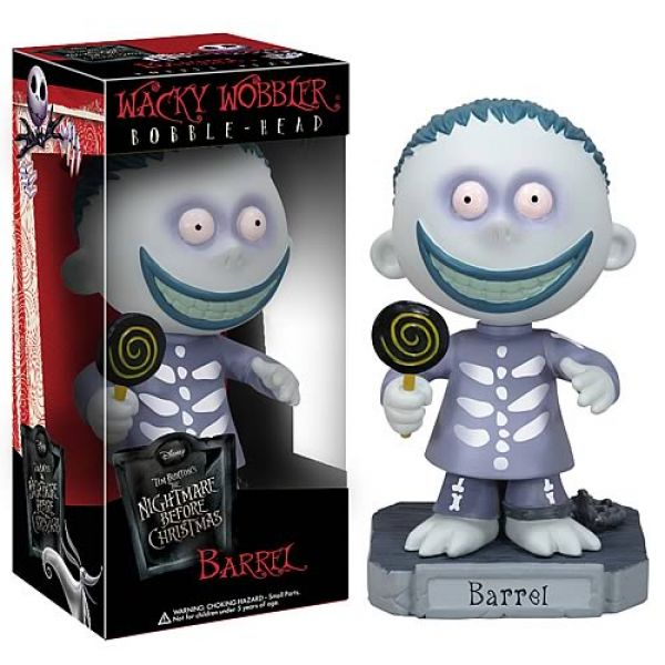 Photo du produit Figurine Funko Wacky Wobbler Nightmare Before Christmas Barrel