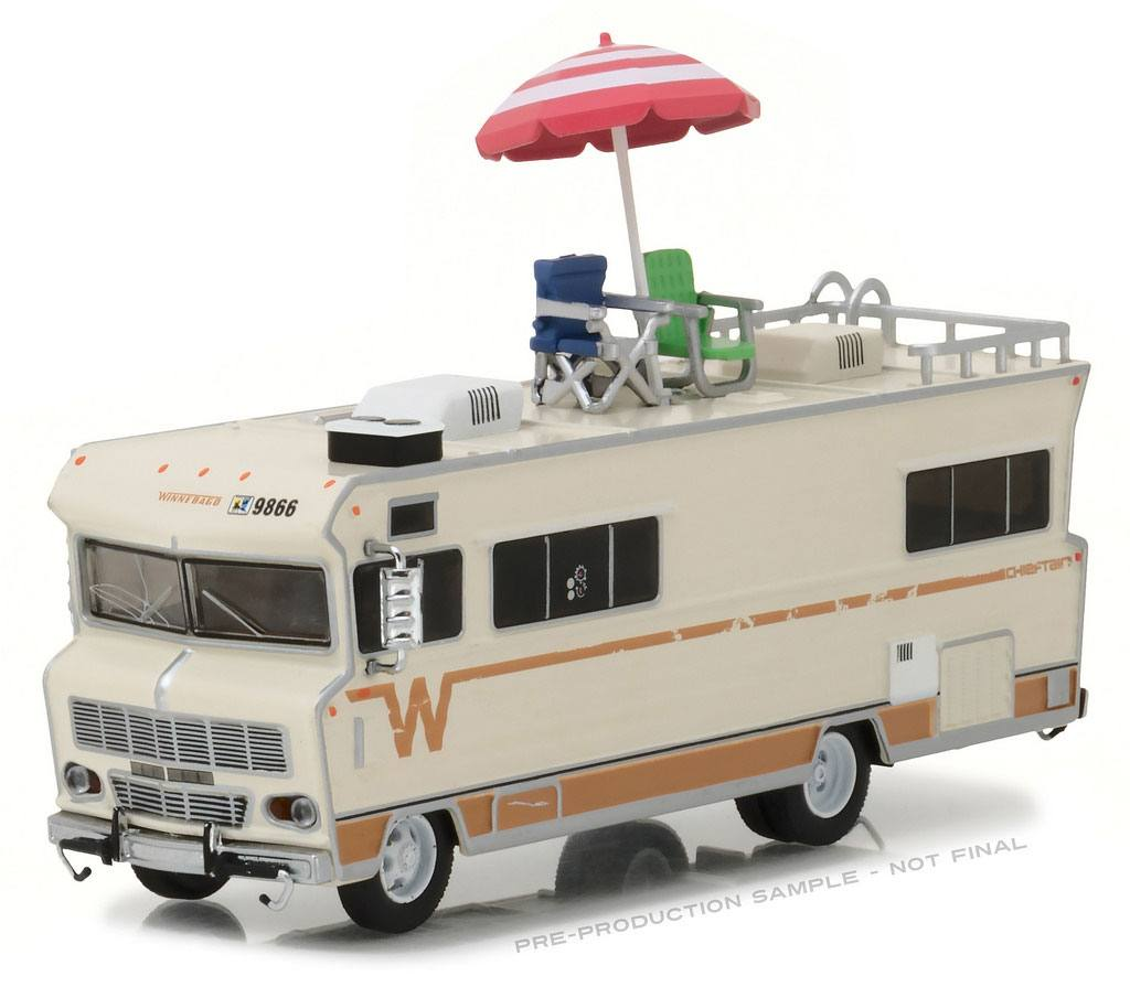 Photo du produit WALKING DEAD 1/64 1973 WINNEBAGO CHIEFTAIN DE DALE 1/64 METAL