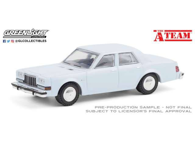 Photo du produit A-TEAM 1981 DODGE DIPLOMAT 1/64 MÉTAL