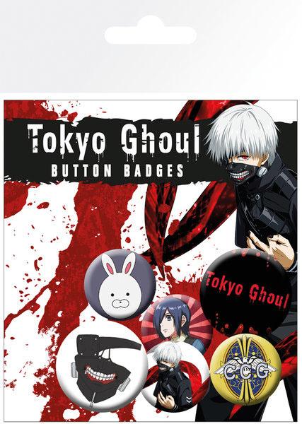 Photo du produit PACK DE 6 BADGES TOKYO GHOUL
