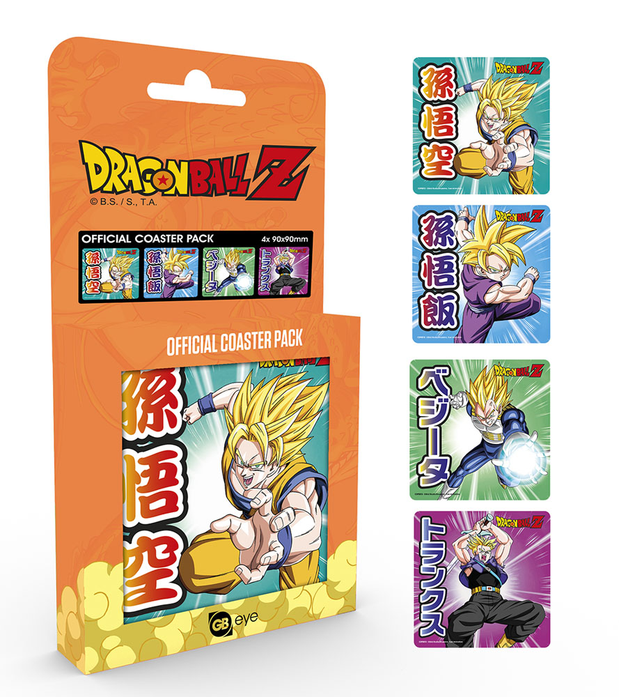 Photo du produit DRAGONBALL Z PACK 4 SOUS-VERRES MIX