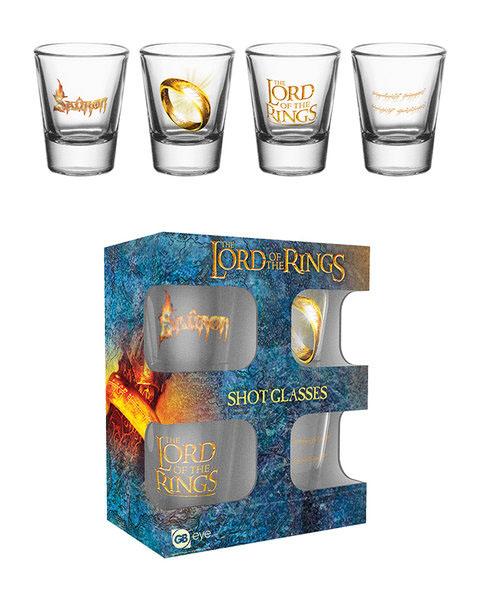Photo du produit Le Seigneur des Anneaux Set 4 verres à liqueur