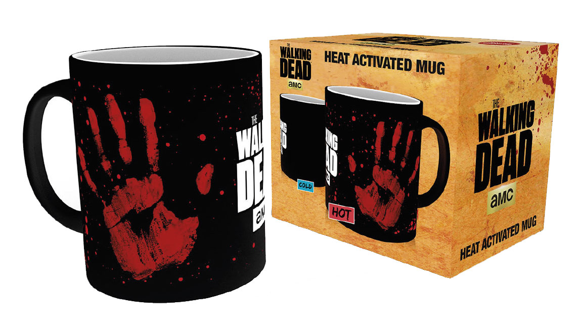the walking dead mug walking dead hand print decor thermique. Black Bedroom Furniture Sets. Home Design Ideas