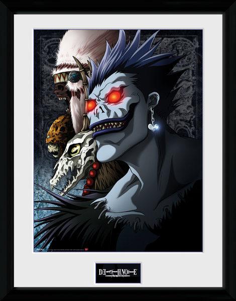Photo du produit Death Note poster encadré Shinigami 45 x 34 cm