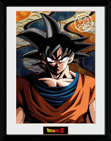 Photo du produit Dragonball Z poster encadré Son Goku 45 x 34 cm